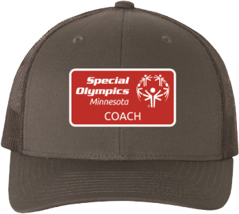 This grey Special Olympics Minnesota baseball cap with a coach logo will protect your noggin on the sunniest days.