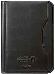 You'll look professional and be ready for anything with this black Special Olympics Minnesota Coach padfolio.